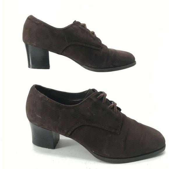 Comfort Plus Womens 7.5 Oxford Dress Pumps Brown S